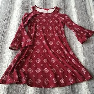 Other - Girls Open shoulder bell sleeve dress size 10/12